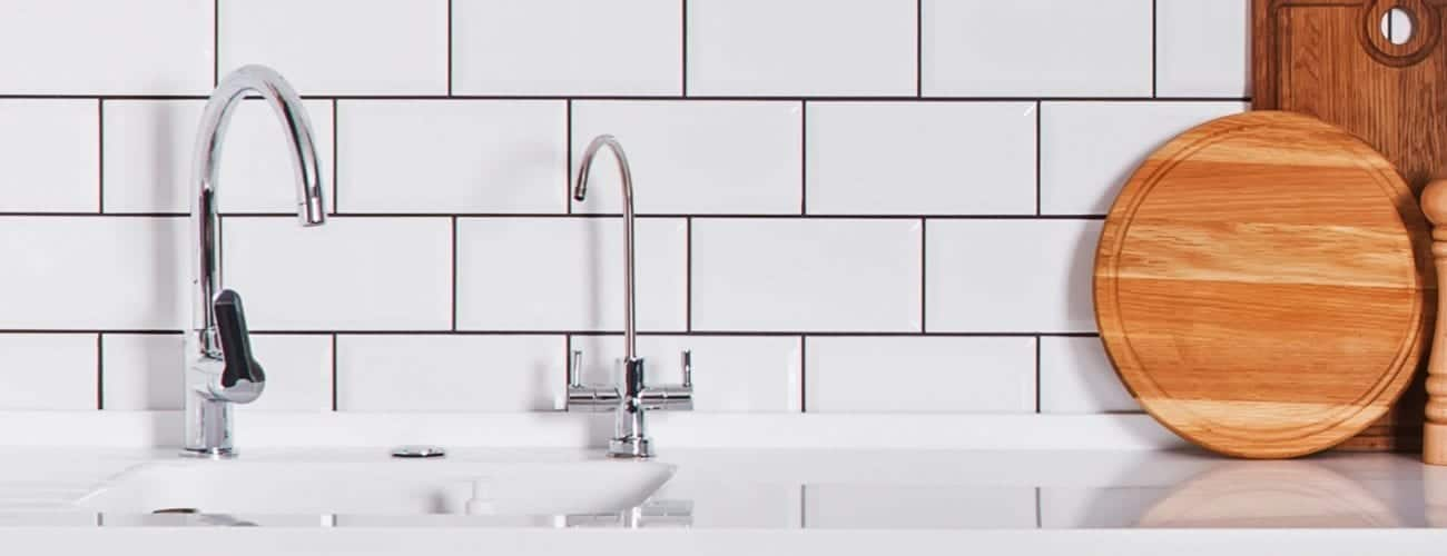 Metro white with grey grout